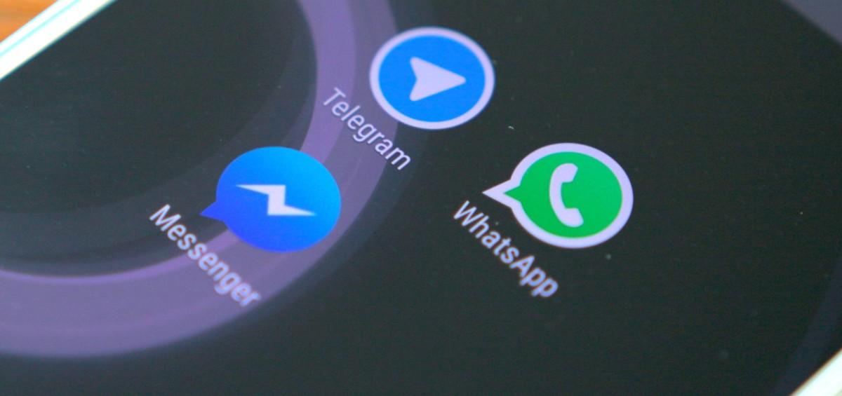 androidpit facebook messenger vs whatsapp vs telegram1 1200x565 - Allo, WhatsApp, Telegram e Messenger a confronto