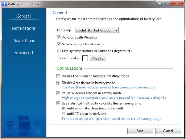 Opzioni 620x466 - Come aumentare la durata della batteria di un notebook?