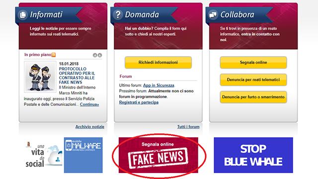 fake news commissariato polizia - Come fare per combattere le fake news con gli strumenti del web