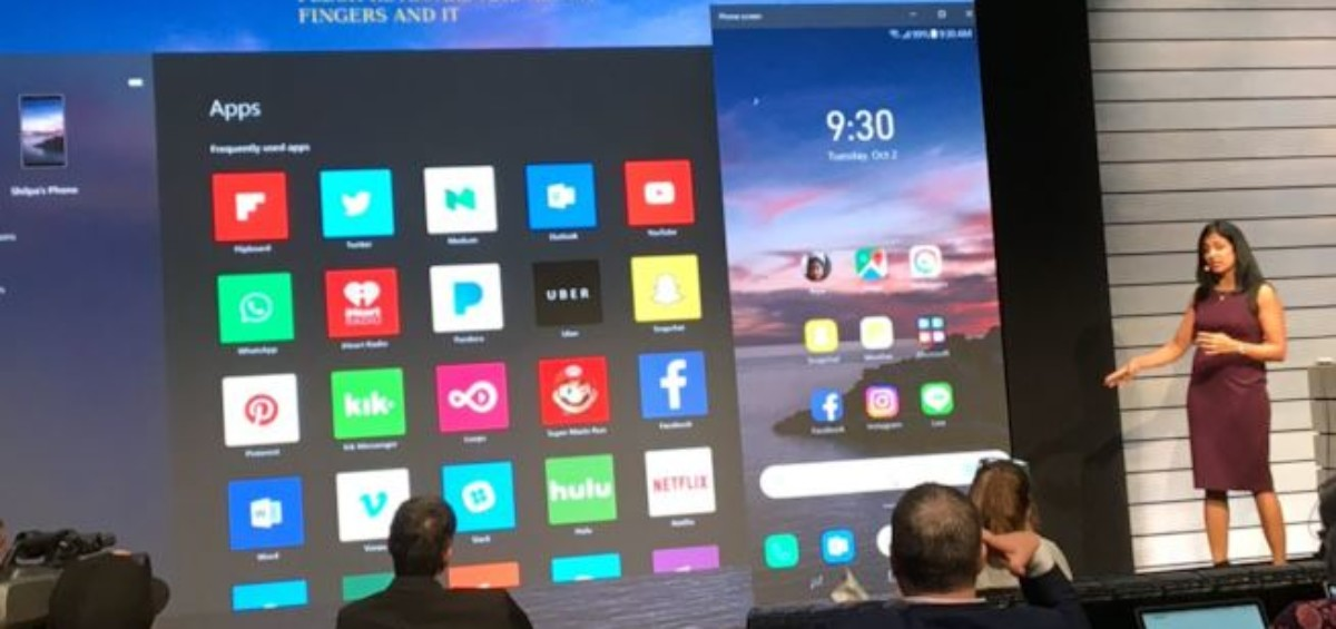 Microsoft Your Phone Mirroring Android 1200x565 - Microsoft presenta Your Phone, l'app per il mirroring degli smartphone su PC