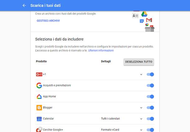 GoogleCosa Sincronizzare - Come esportare i dati di Google + prima che chiuda