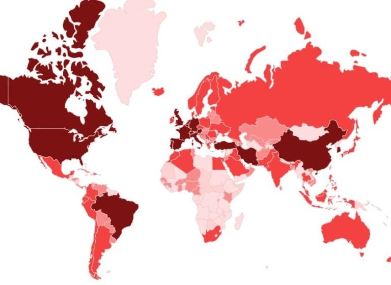 Covid 19 Global Map 768x560 - Il Tuo Sito In Una Pagina